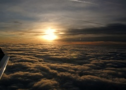 Over Clouds , Sunset