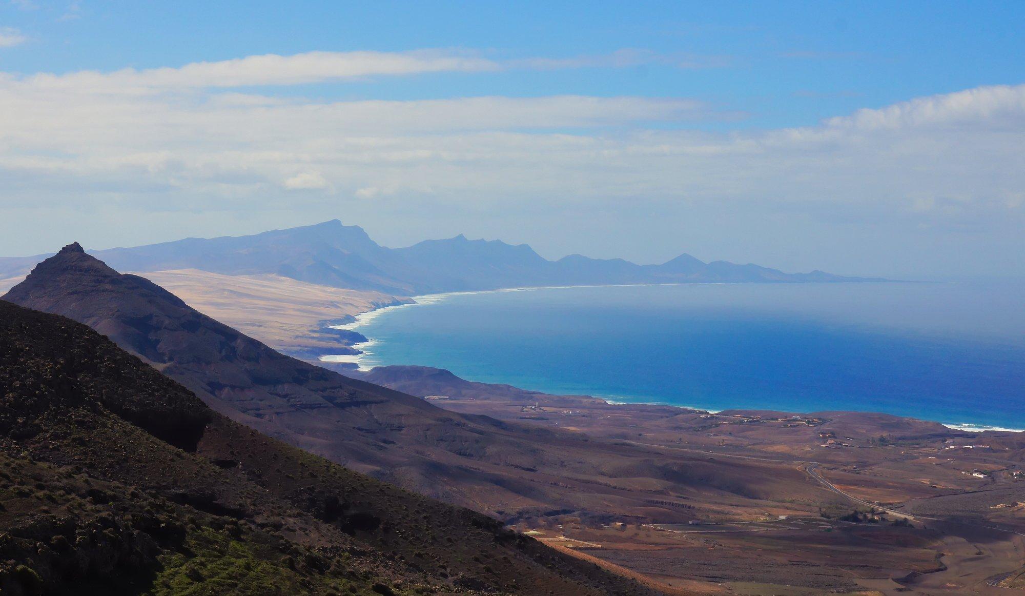 Blick vom Montaña Cardón zur Südspitze