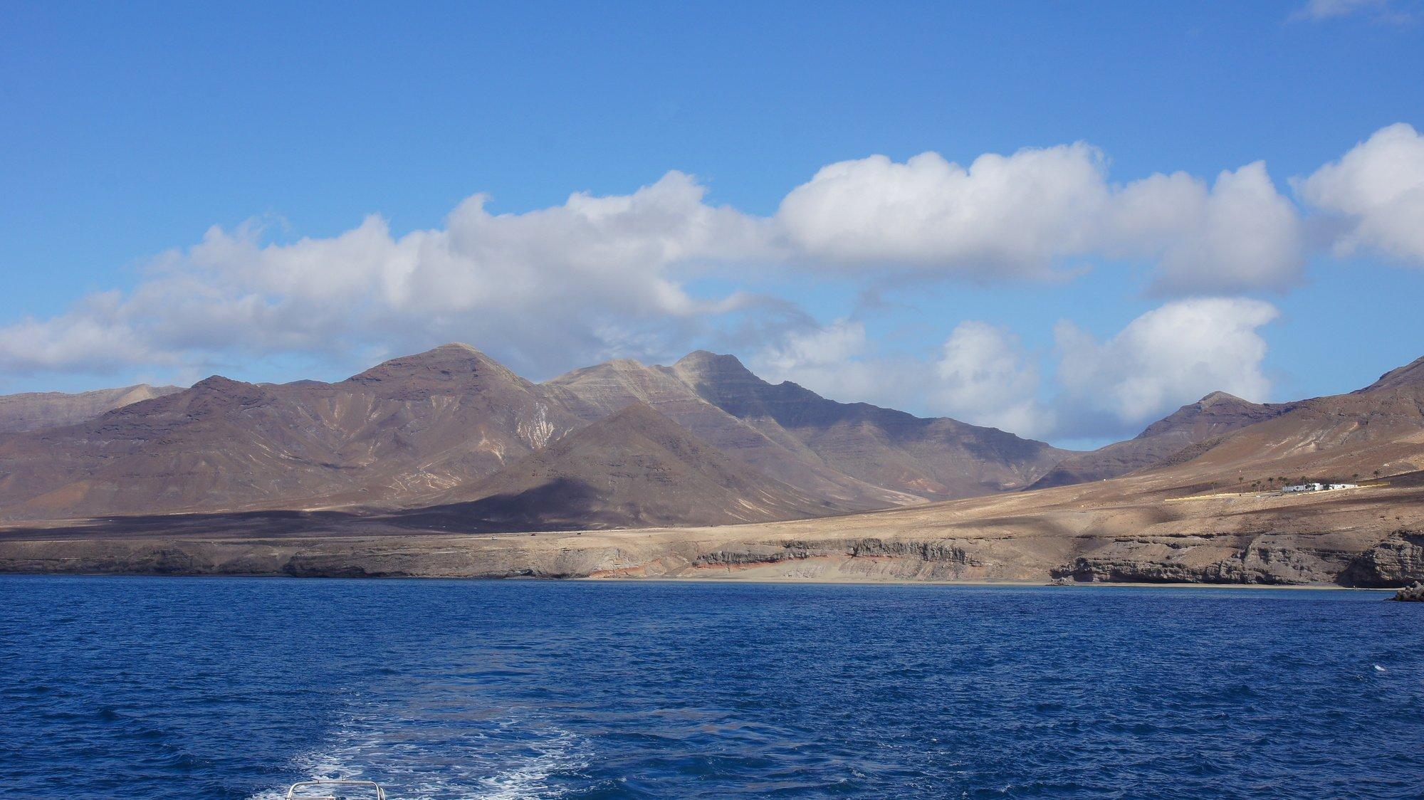 mit dem Boot unterwegs vor Morro Jable