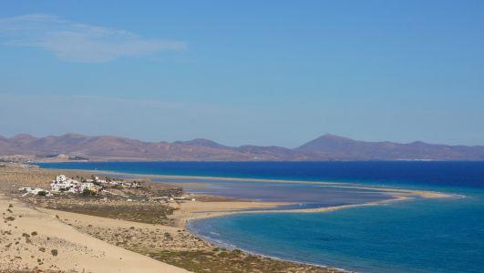 Lagune der Playa Sotavento